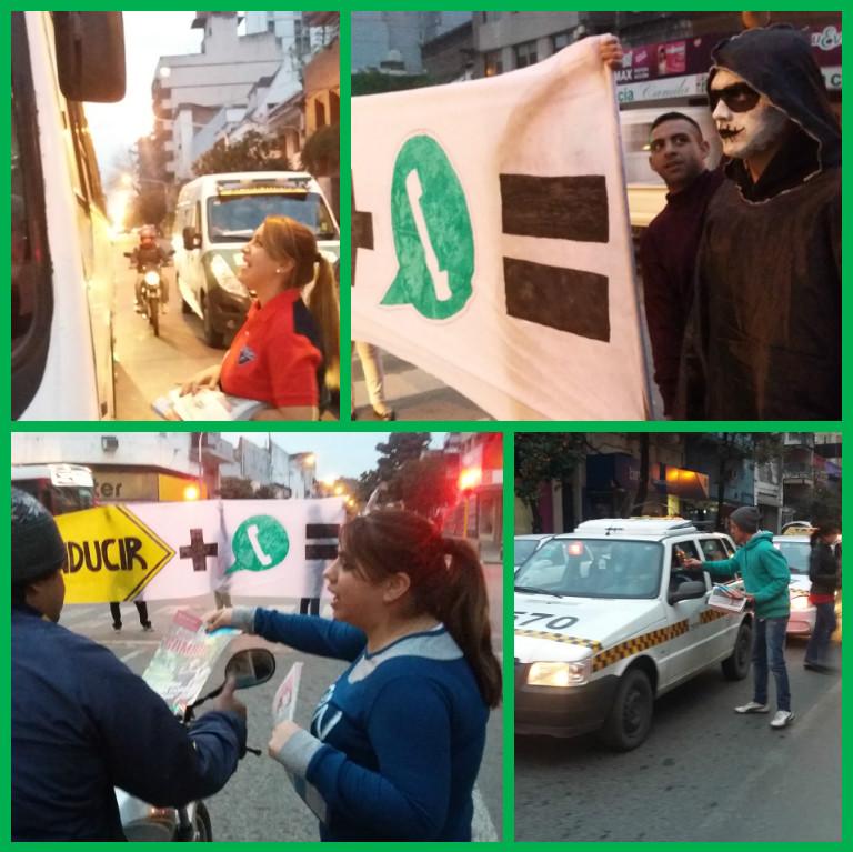 La FJU Tucumán llevando conciencia