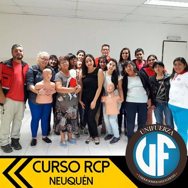 Curso de RCP para el Proyecto Unifuerza de Neuquén