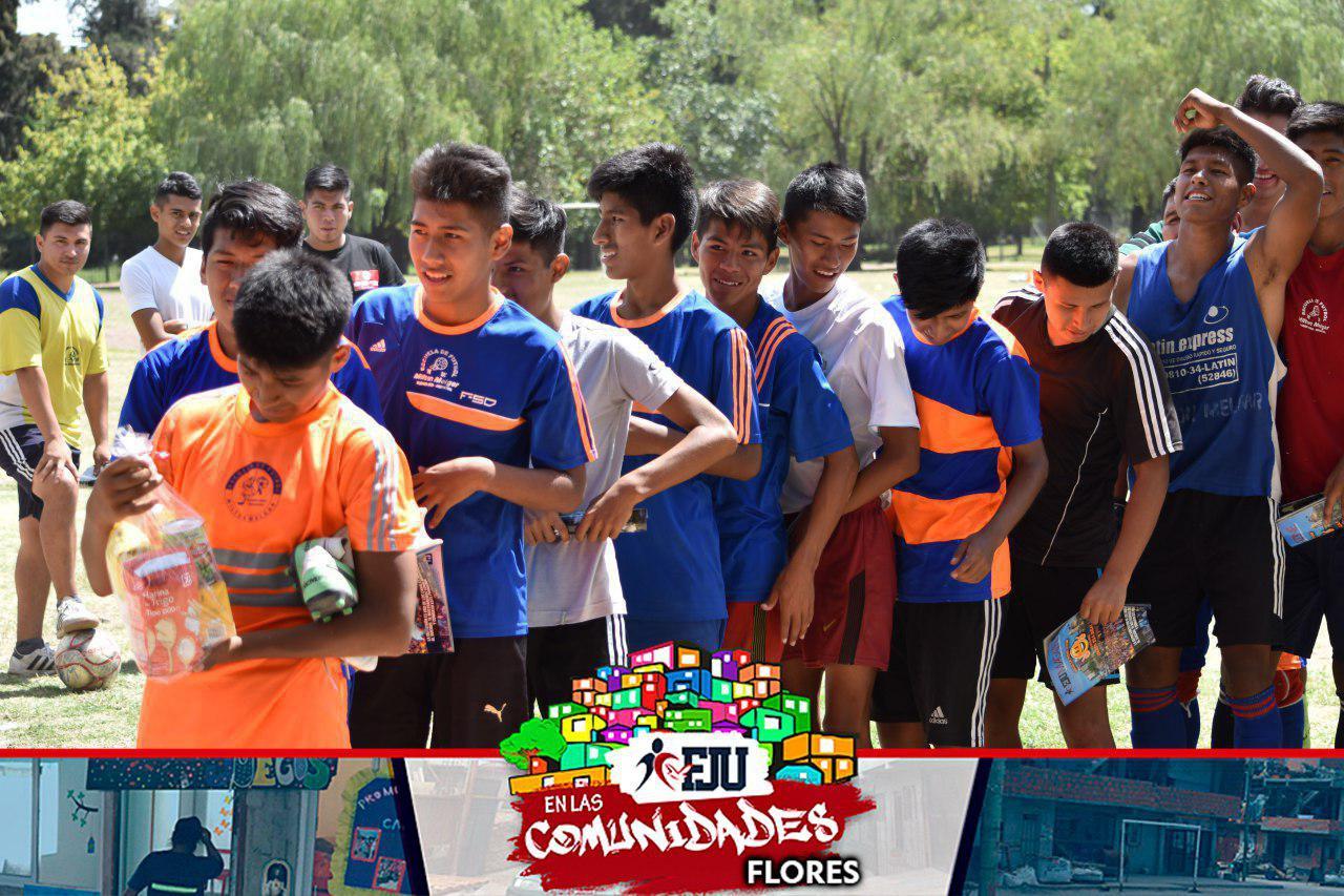 Las FJU de Flores y de Parque Patricios también realizaron sus actividades en la Comunidad