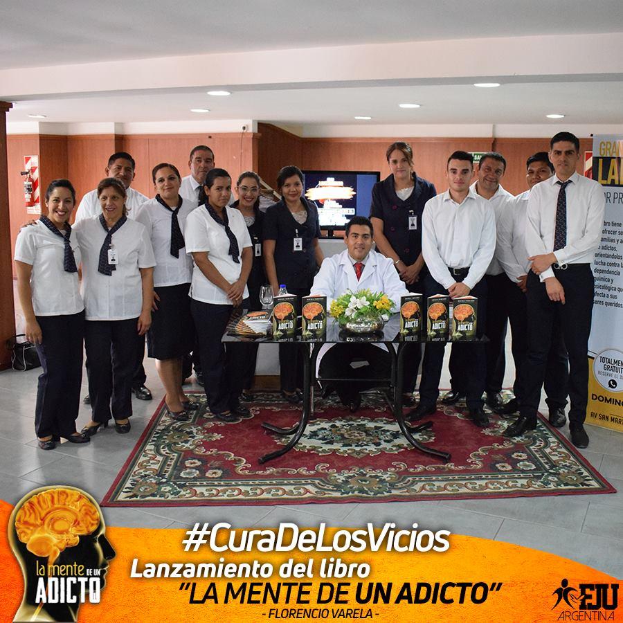 Lanzamiento del Libro La mente de un adicto en Florencio Varela
